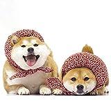 Bosixty Hunde Katzen Netter, mit Baumwolle gefüllter Schal, Hundepflegezubehör, Haustier-Wickel im japanischen Stil, geformtes Halsband