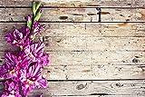 Accesorios de Fondo de fotografía estéreo de Vinilo Flor y Tablero de Madera Tema Estudio fotográfico Fondo de Disparo A24 5x3ft / 1,5x1m