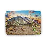 Viowr22iso Alfombra de baño antideslizante absorbente Teide Volcán Tenerife Canarias, cómoda alfombra de baño ultra suave lavable 40 x 60 cm