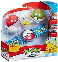 Pokemon Clip & Go Poke Ball Belt Set - Verde y Rojo