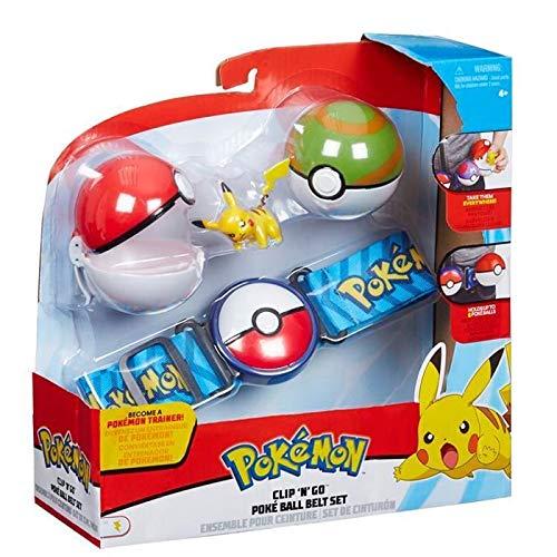 Pokemon Clip N Go Poke Ball Gürtel Set Grün und Rot