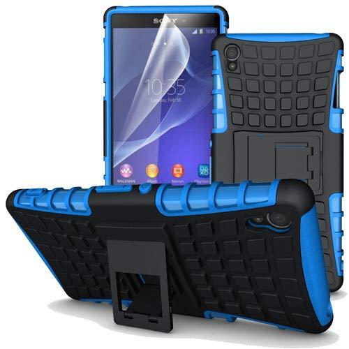 betterfon | Outdoor Handy Tasche Hybrid Case Schutz Hülle Panzer TPU Silikon Hard Cover Bumper für Sony Xperia Z3 Blau