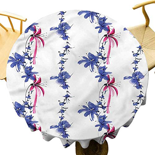 Pattern Tablecloth Native Effect. Outdoor Picnic Table Diameter 36'