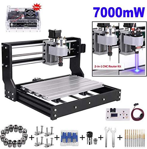 7000mw Laser Engraver CNC 3018 Pro Engraving Machine, GRBL Control 3 Axis Mini...