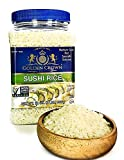 Golden Crown Sushi Rice Premium Quality Rice | Non-GMO Gluten-Free 100% Authentic USDA Organic Naturally Fragrant Sweet Flavorful | Medium Grain Rice for Vegetarian Daily Meals 32 Oz, 2 Lb