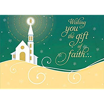 amazon com shining star gift of faith designer greetings box of 18 religious christmas cards office products shining star gift of faith designer greetings box of 18 religious christmas cards