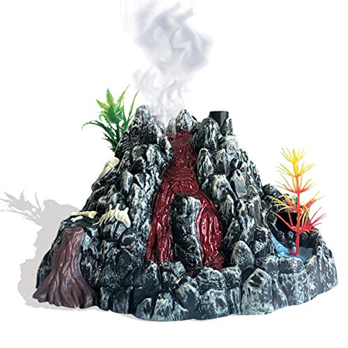 NIMON Juego de simulación de volcán de Dinosaurio Juguete Modelo de Dinosaurio para niños Juego de Juguete de Dinosaurio Modelo de erupción volcánica en Aerosol de simulación Liberal
