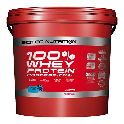 Scitec Nutrition Protein 100% Whey Protein Professional, Vanille, 5000g