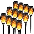 KYEKIO Upgraded 12Pack Torches, Solar Lights Outdoor, 12LED Solar Torch Lights with Dancing Flickering Flames, Waterproof Landscape Decoration Flame Lights for Garden Pathway Yard-Auto On/Off