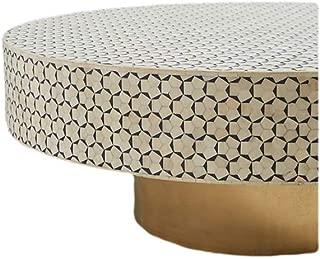 Bone Inlay Egypt Coffee Table in Charcoal