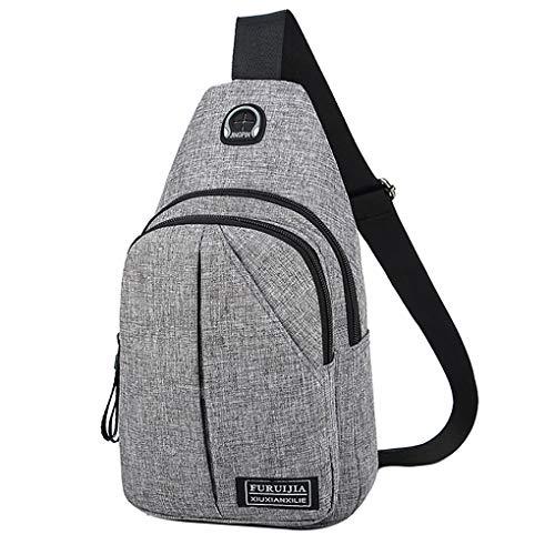 Brusttasche für Herren/Skxinn Umhängetasche Schultertasche Cross Bag Schleuder Tasche Sling Rucksack Multipurpose Daypack,Outdoor Sport Running Casual Umhängetasche(H)