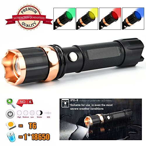 Tactical Police XM-L T6 LED Flashlight | Amazon