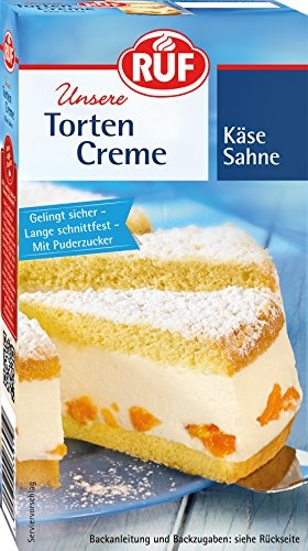 RUF Torten Creme Käse Sahne, 6er Pack (6 x 160 g)