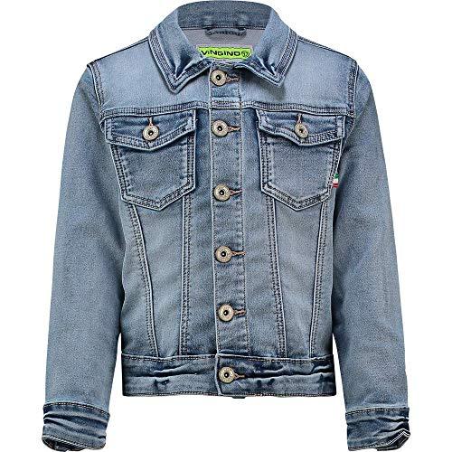 Vingino Jungen Jeansjacke Jacke Figaro mid Blue wash (140)