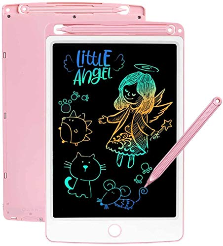 LCD Writing Tablet for Kids, 8.5 Inch Colorful Drawing Tablets Toddler Doodle Board Electronic Drawing Board Reusable Sketch Pad Gifts for Kids and Adults at Home, School and Office (Pink)