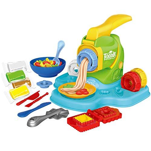 Buding Nudelmaschine Knete, Nudelmaschine Spielset Küchenset Spielzeug-Küchenaccessoires Für Fantasievolles Und Kreatives Spielen 24x23x17cm