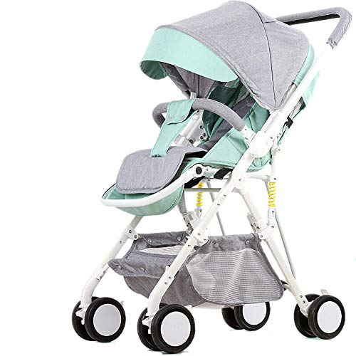 Amazing Deal Folding Luxury Baby Stroller Travel System with Anti-Shock Springs Newborn Pushchair Ad...