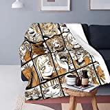 My Hero Academia Collage Anime Himiko Toga Throw Blanket,Soft Flannel Warm Cozy,Suitable for Sofa Bed Couch All Seasons 60 x 50 inch