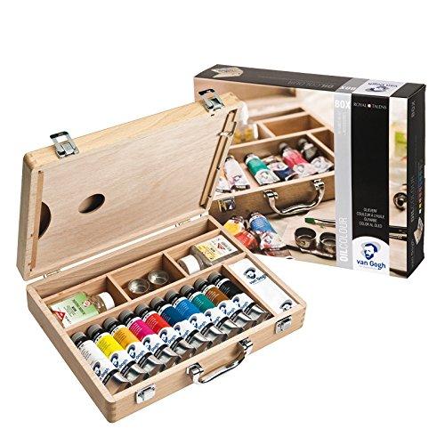 CREATIV DISCOUNT NEU Van Gogh Ölfarbe Basis-Malkasten, 10x40 ml