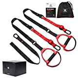 FitBeast Suspension System Training Kit, Suspension Straps Workout Adjustable Training Straps with Door Anchors, Professional Full-body Workout for Home Gym and Outdoors