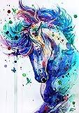 N / A Diamante Ricamo Anmial Punto Croce Pittura Diamante DIY Cavallo Diamante Mosaico Strass Complementi Arredo Casa YT-1
