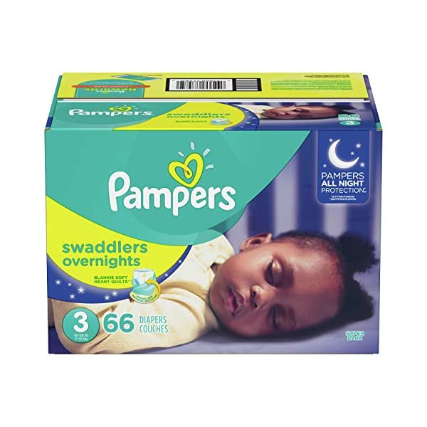 Diapers Size 4, 58 Count – Pampers Swaddlers Overnights Disposable Baby Diapers, Super Pack