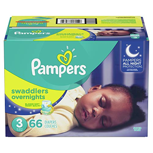 Diapers Size 3, 66 Count - Pampers Swaddlers Overnights Disposable Baby Diapers,...