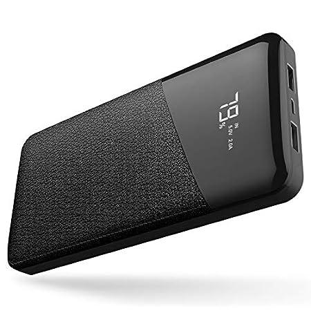 【本日最終日】Hypamer レザー調デザインのLCD残量表示対応大容量25000mAhモバイルバッテリー 1,599円送料無料!