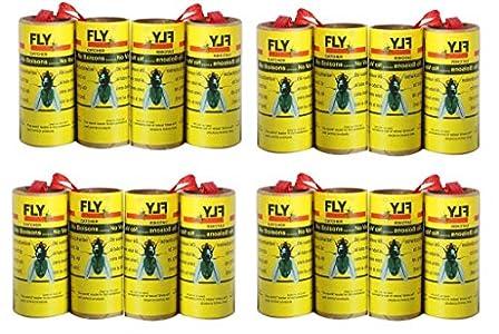 16mosca atrapasueños ruedas, insectos trampa, sin veneno, respetuoso con el medio ambiente, higiénico–4paquetes (16unidades)