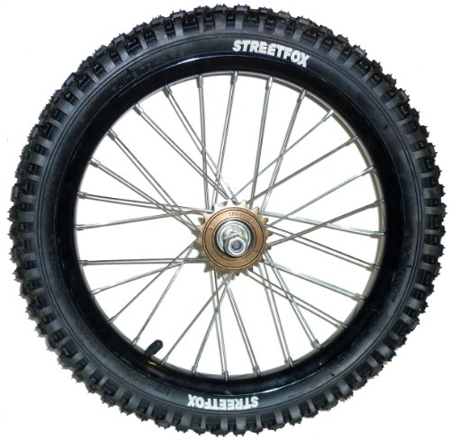 BANKRUPT - Rueda trasera para niños, 40,64 cm, con llanta negra y neumático negro barato