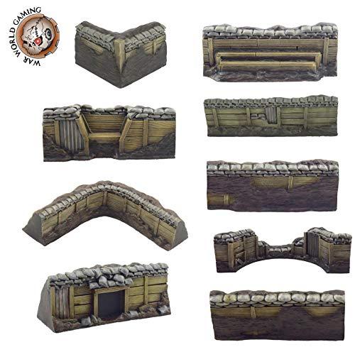 War World Gaming World at War - Sistema de Trincheras - Piezas Individuales (Selecciona Tipo) - 28mm, WW1, Wargames, Miniaturas, Escenografía, Gran Guerra, Contienda Militar