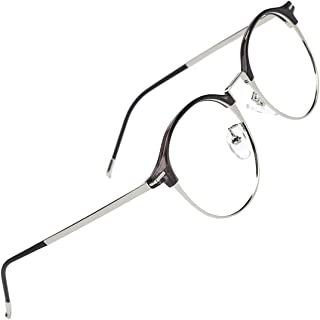 804a14d2d817 Slocyclub New Full Rim Round Thin Metal Eyeglasses Artist Frame with Clear  Lens for Women