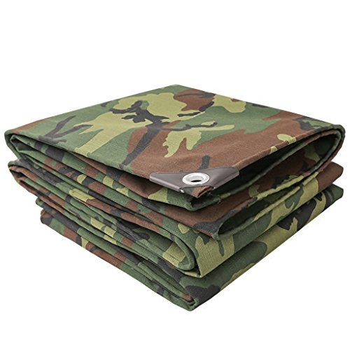 ZRH Waterproof Canvas Camouflage Canvas Sunscreen Insulation Tensile Durable And Durable -500 G/m2, Thickness 0.7 Mm, 14 Sizes (Size : 4 x 5m)