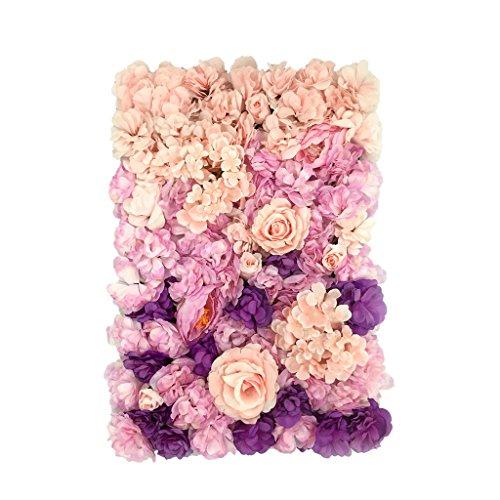 Bhuuno シルクローズ造花パネル壁掛け装飾品結婚式の装飾タイプA - #4
