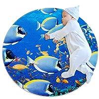 エリアラグ軽量 魚(2) フロアマットソフトカーペット直径27.6インチホームリビングダイニングルームベッドルーム