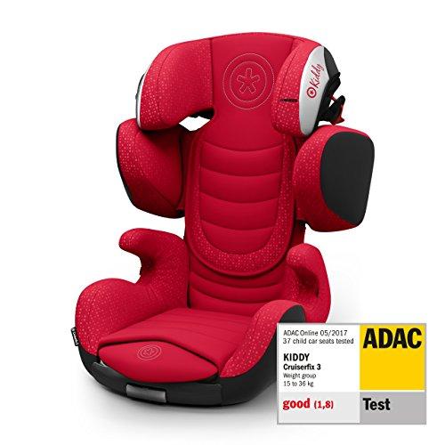 Kiddy Cruiserfix 3 | Autokindersitz (Gruppe 2/3) (ca. 3 Jahre bis 12 Jahre) (ca. 15kg - 36kg) mit Isofix | Kollektion 2019 | Candy Red