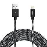AUKEY Lightning Kabel 2m [ Apple MFi Zertifiziert ] Nylon Metallgehäuse iPhone Kabel für iPhone X...