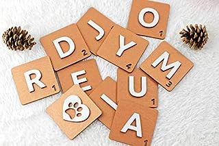 3D Personalized Bronze Wooden scrabble tiles   Wooden letters   Custom family name sign   Scrabble letters   Wall art   Alphabet letters