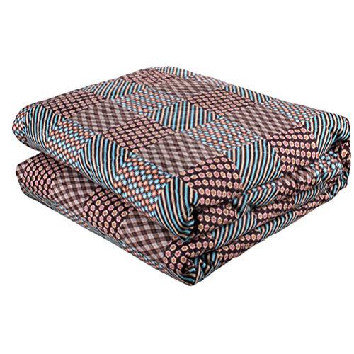 LMXJB Quilten Elektrisch warm deken, gekamd katoen, met 7-traps, automatische temperatuurregelaar, afstandsinfrarood, koolstofvezelverwarming, voor bed, verwarmd, gooien lichaamswarmer, 200 x 160 cm
