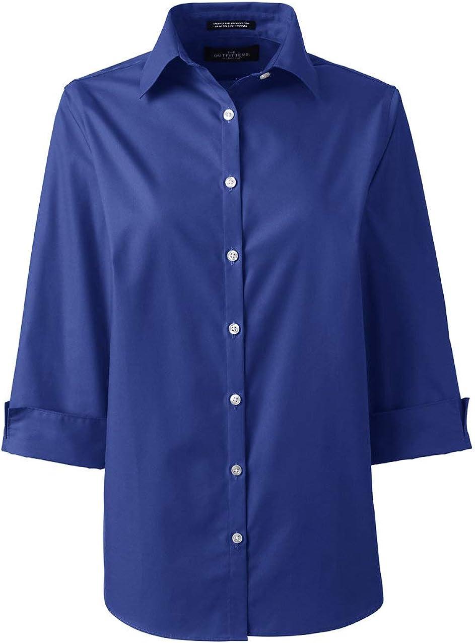 Lands' End Women's 3/4 Sleeve Broadcloth Shirt