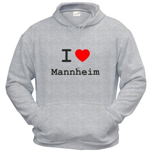 getshirts - Best of - Hoodie - Love - I Love Mannheim - Graumeliert S