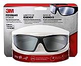 3M Safety Eyewear Silver Mirror, Black Frame Grey Accent, Anti-Fog & Scratch Resistant Lens