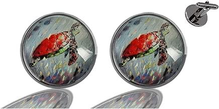 Glasscase Custom Men's Women's Glass Gun Silver Cuff Links Shirts Tuxedo Cufflinks Accessories Wedding Business Gifts