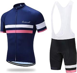 Men's Cycling Jersey Set Road Bike Jersye Short Sleeves...
