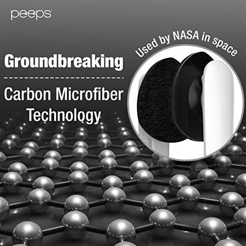 Peepsメガネクリーナーレンズクリーナーマイクロファイバー軽量持ち運び便利1本ブラック