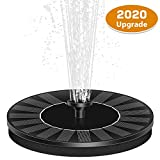ROADTEC Upgraded 2.4W Solar Fountain Pump with Battery Backup, Freestanding Floating Solar Water Fountain Pump Outdoor Solar Powered Fountain Pump for Bird Bath, Pond, Swimming Pool, Garden