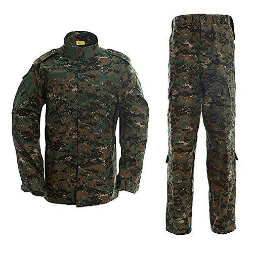 AKARMY Unisex Lightweight Military Camo Tactical Camo Hunting Combat BDU Uniform Army Suit Set MCF Jungle Digital