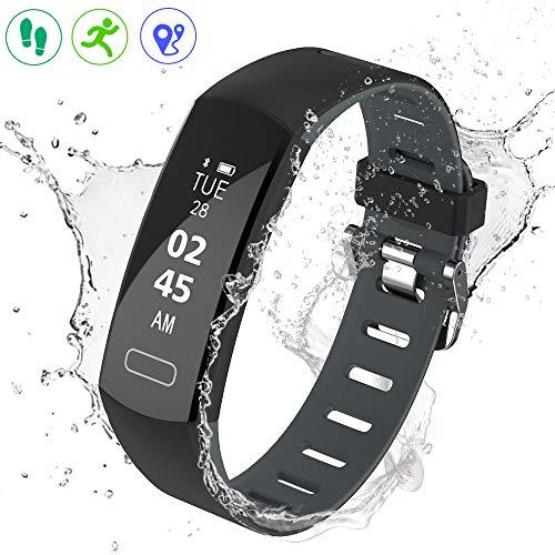 YOUNGDO Fitness Tracker/Fitness Armband mit Farbe-Touchscreen, Wasserdicht IP67 für genaue Herzfrequenzmessung und Schlafüberwachung (C07)