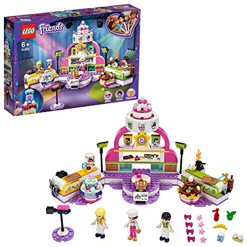 Lego Friends - concurso de Repostería, Nuevo Juguete de Construcción, Programa de Televisión de Comida: Pasteles y Dulces, Incluye Jueza y Trofeo, A Partir de 6 Años, Novedad 2020 (41393)()