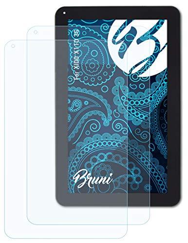 Bruni Schutzfolie kompatibel mit XIDO X110 3G Folie, glasklare Bildschirmschutzfolie (2X)